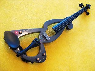 elektrické housle dřevěné msa černá
