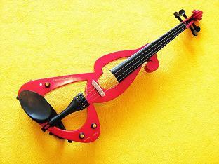 elektrické housle dřevěné msa červená