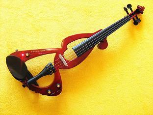 elektrické housle dřevěné msa hnědá