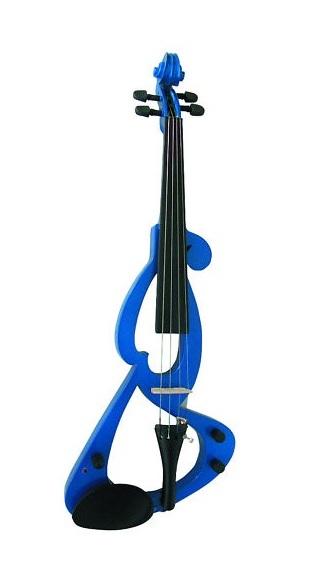 elektrické housle dřevěné msa modrá