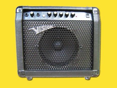 kytarové kombo distortion vstup na mikrofon 30W vision
