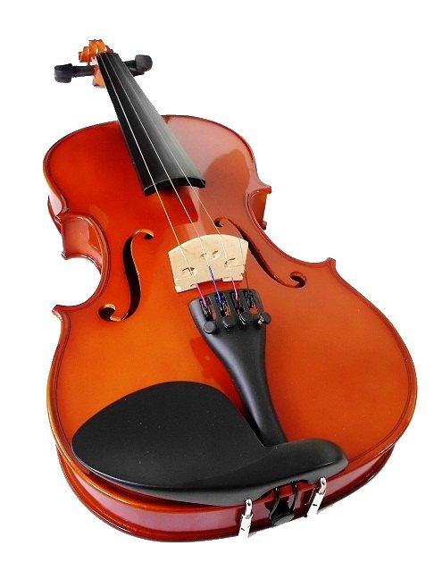 klasické housle tvrdý kufr 4/4 příslušenství msa